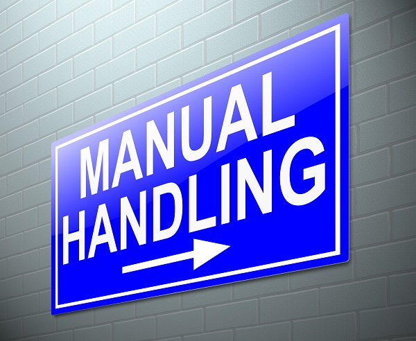 Illustration depicting a sign with a manual handling concept.